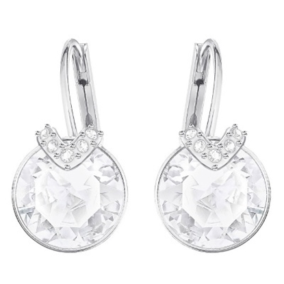 Picture of Swarovski Bella Pierced Earrings - Rhodium/White