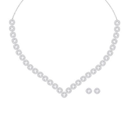 Picture of Swarovski Angelic Square Necklace & Earrings Set - Large