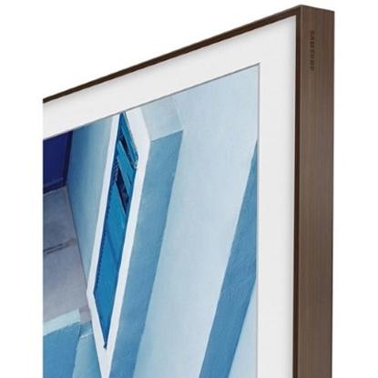 Picture of Samsung 65'' The Frame Customizable Bezel - Walnut/Dark Wood