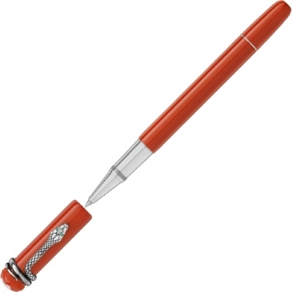 Picture of Montblanc Heritage Collection Rouge et Noir Rollerball - Coral