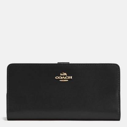 Picture of Coach Skinny Wallet - Light Gold/Black