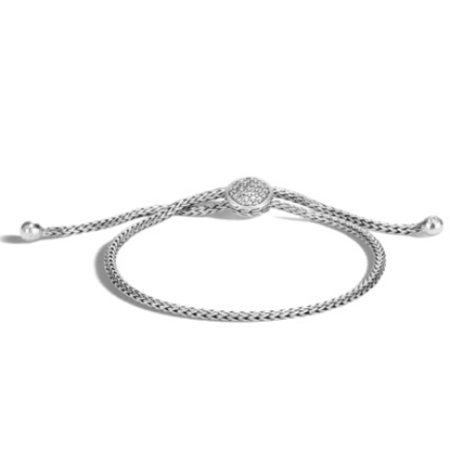 Picture of John Hardy Classic Chain Silver Ball Bracelet - Diamond Pave