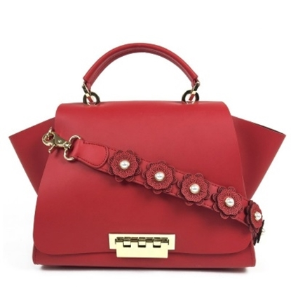 Picture of Zac Posen Eartha Iconic Soft Top Handle with Strap - Geranium