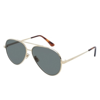 Picture of St. Laurent Men's Classic Metal Sunglasses - Gold/Green