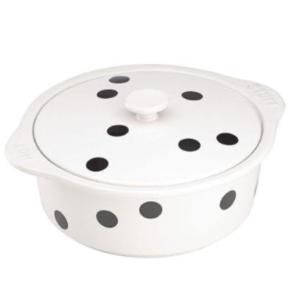 Picture of Kate Spade All in Good Taste Deco Dot Covered Casserole