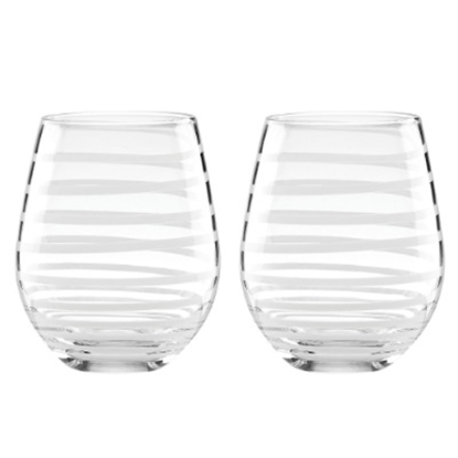 Picture of Kate Spade Charlotte Street Stemless White Wine Glasses