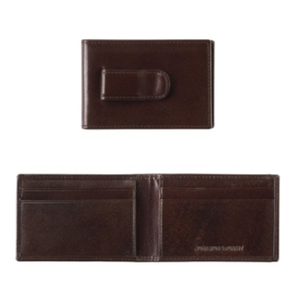Picture of Johnston & Murphy Two Fold Money Clip Wallet - Brown
