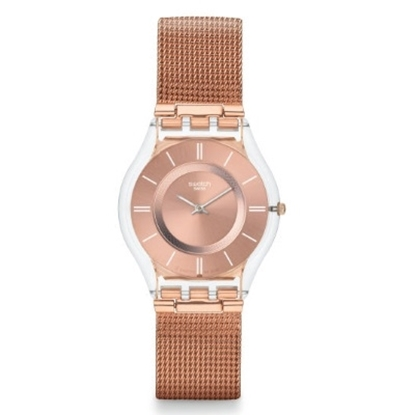 Picture of Swatch® ''Hello Darling'' Pink Gold-Tone Watch