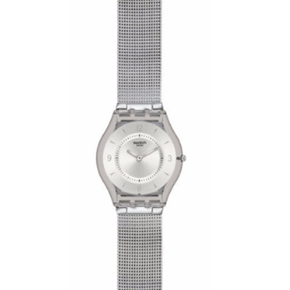 Picture of Swatch® ''Metal Knit'' Watch with Milanese Strap
