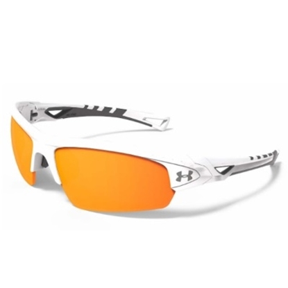 Picture of Under Armour Octane Sunglasses - Shiny White/Orange