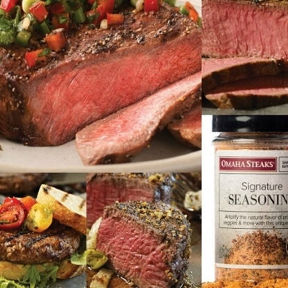 Picture of Omaha Steaks® Steak Sampler with Six Burgers
