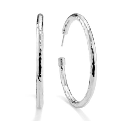 Picture of Ippolita Classico Large Hammered Hoop Earrings