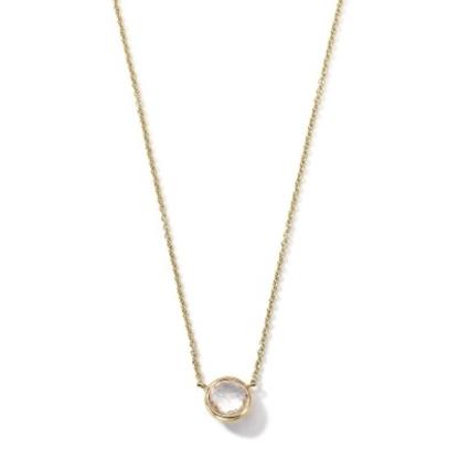 Picture of Ippolita 18K Lollipop Mini Necklace - Clear Quartz
