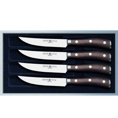 Picture of Wusthof Ikon 4-Piece Steak Knife Set with Walnut Box