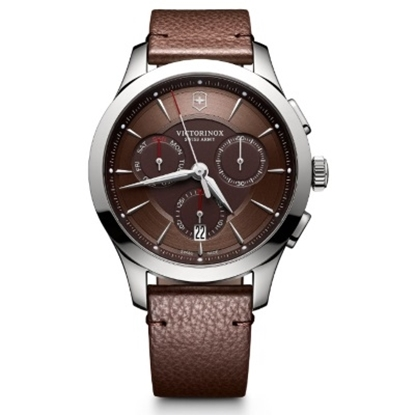 Picture of Victorinox Swiss Army Alliance Chrono with Brown Leather Strap