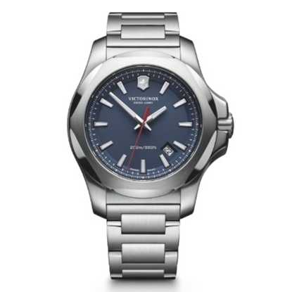 Picture of Victorinox Swiss Army INOX Stainless Steel Watch w/ Blue Dial