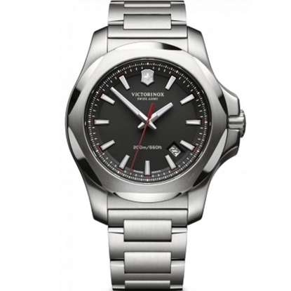 Picture of Victorinox Swiss Army INOX Stainless Steel Watch w/ Black Dial