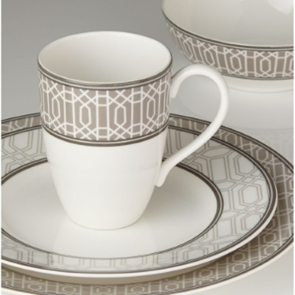 Picture of Lenox Neutral Party Link Dinnerware 4-Piece Setting