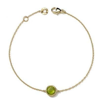 Picture of Ippolita Mini Bracelet in 18K Gold - Peridot