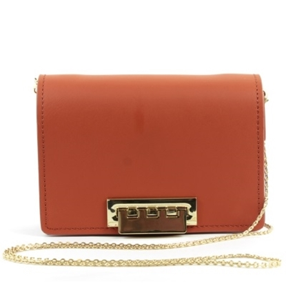Picture of Zac Posen Earthette Accordian Crossbody - Coral