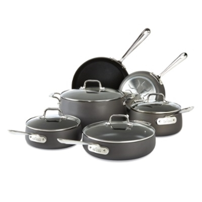 Picture of All-Clad Hard Anodized Nonstick 10-Piece Cookware Set