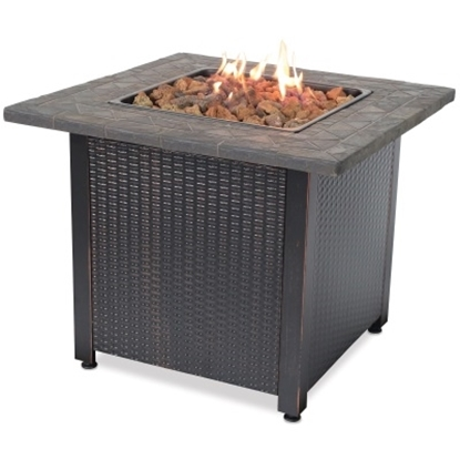 Picture of Blue Rhino Liquid Propane Outdoor Fireplace with Resin Mantel