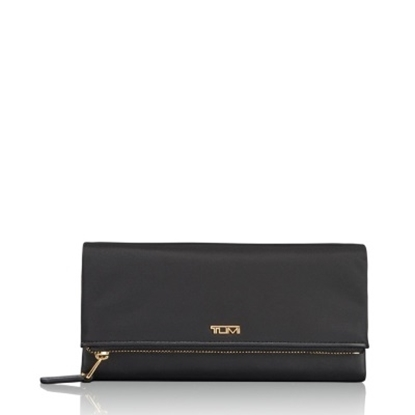 Picture of Tumi Voyageur Flap Continental Wallet - Black