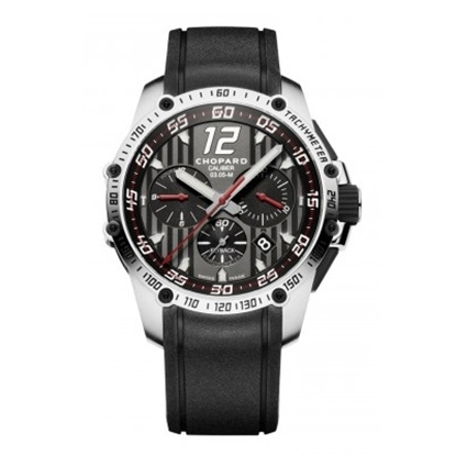 Picture of Chopard Superfast Chrono with Black Rubber Strap & Black Dial