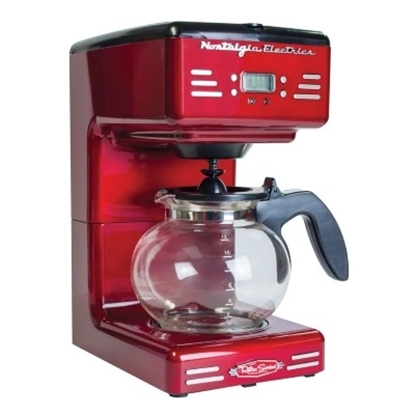 Picture of Nostalgia Electrics™ 50's Style Coffee Maker - Retro Red