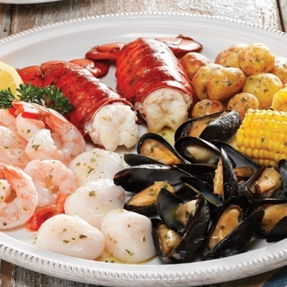 Picture of Lobster Gram Maine Seafood Bake - Dinner for Two