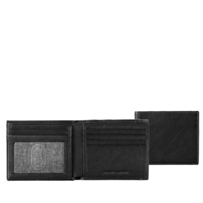 Picture of Johnston & Murphy Slimfold Wallet - Black Tumbled