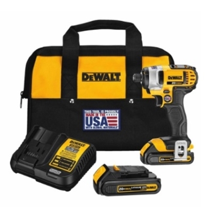 Picture of DeWalt® 20V MAX* Lithium Ion 1/4'' Impact Driver Kit