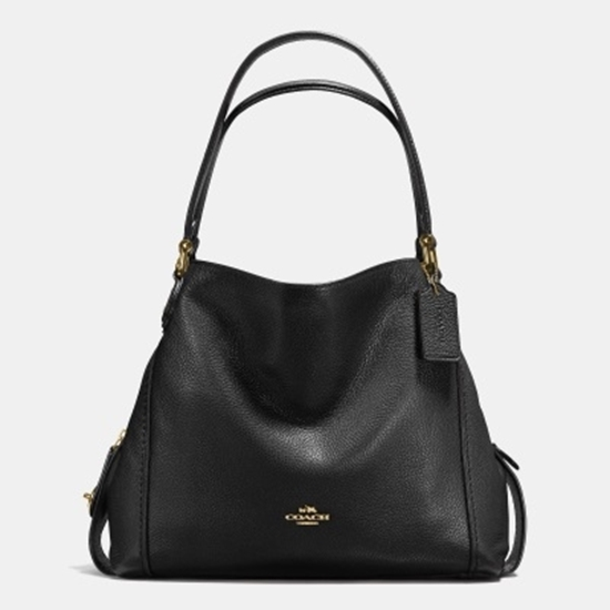 Picture of Coach Edie 31 Shoulder Bag - Light Gold/Black