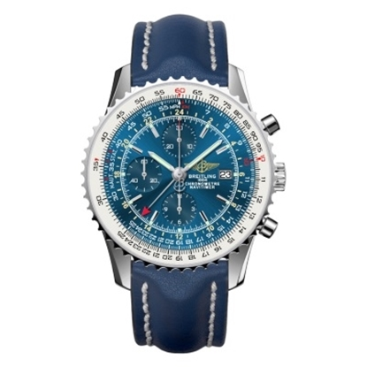 Picture of Breitling Navitimer World with Blue Dial & Blue Leather Strap