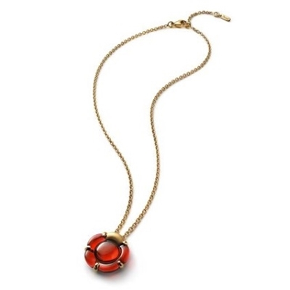 Picture of Baccarat Small B Flower Necklace - Red