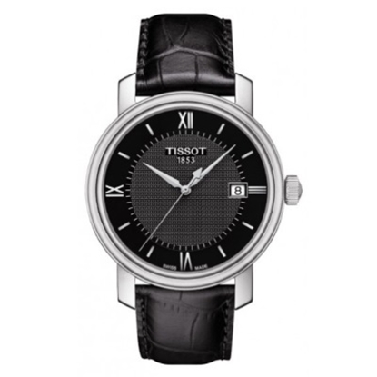 Picture of Tissot Bridgeport Quartz Black Leather Strap Watch