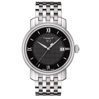 Picture of Tissot Bridgeport Quartz Stainless Steel Watch with Black Dial