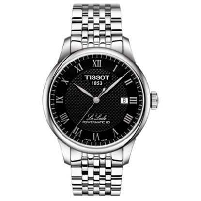 Picture of Tissot Le Locle Powermatic 80 Watch with Black Dial