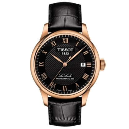 Picture of Tissot Le Locle Powermatic 80 Watch with Black Leather Strap