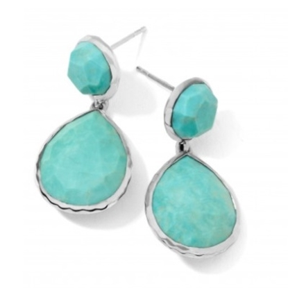 Picture of Ippolita Rock Candy Snowman Earrings - Turquoise