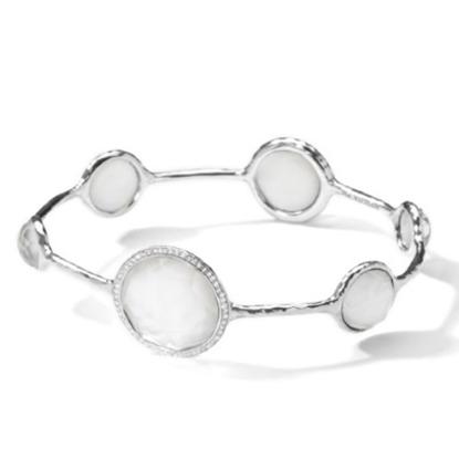 Picture of Ippolita Lollipop Sterling Silver Stella Bangle with Diamonds