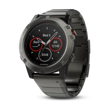 Picture of Garmin fenix 5X Multisport GPS Watch - Sapphire Slate/Metal