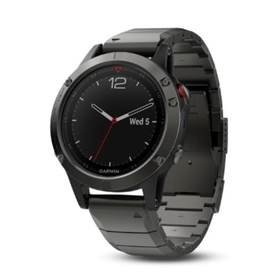 Picture of Garmin fenix® 5 Multisport GPS Watch- Sapphire Slate/Metal