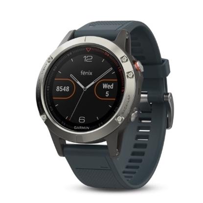 Picture of Garmin fenix® 5 Multisport GPS Watch - Silver/Granite Blue