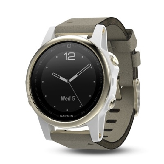 Picture of Garmin fenix® 5S Sapphire GPS Watch - Champagne/Gray Suede