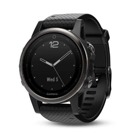 Picture of Garmin fenix® 5S Sapphire GPS Watch - Black/Black Band