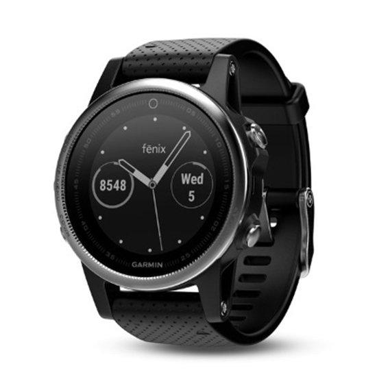 Picture of Garmin fenix® 5S Multisport GPS Watch - Silver/Black Band