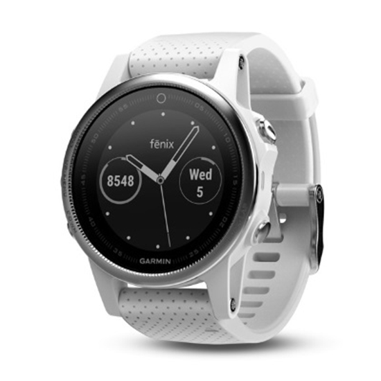 Picture of Garmin fenix® 5S Multisport GPS Watch - White/White Band