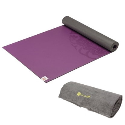Picture of Gaiam® Sol Grip Yoga Mat & Grippy Yoga Towel Set - Purple