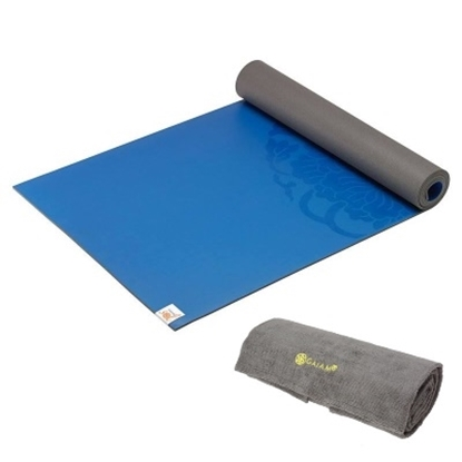 Picture of Gaiam® Sol Grip Yoga Mat & Grippy Yoga Towel Set - Navy